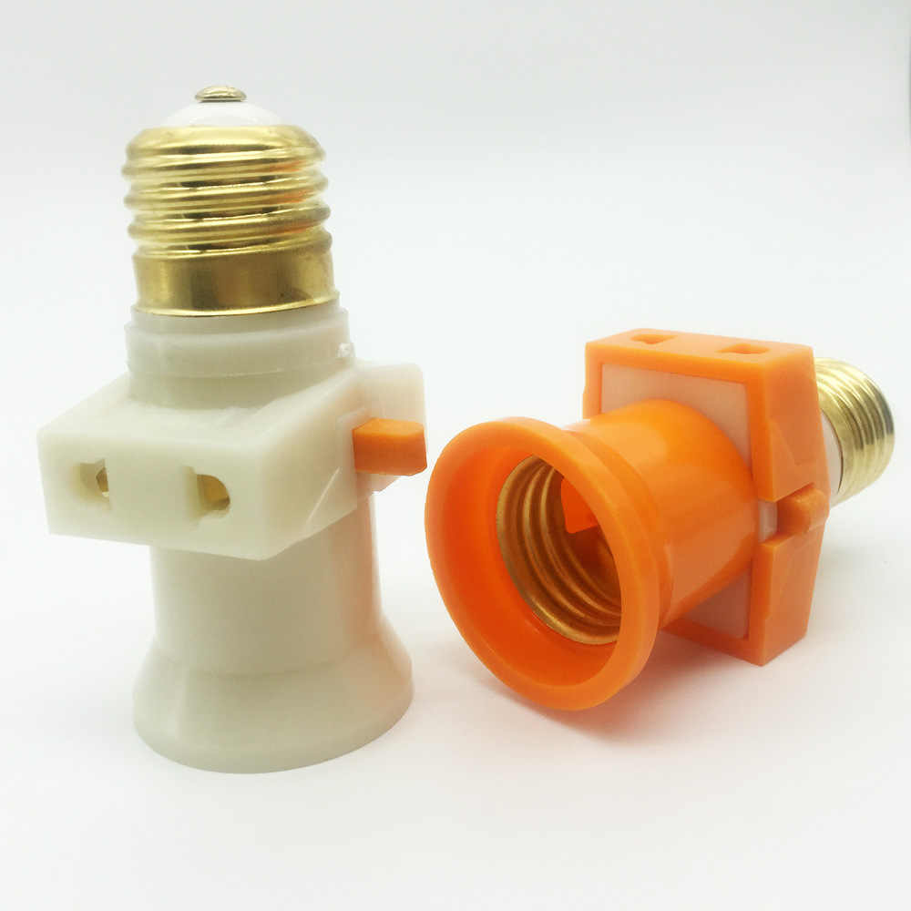 Высокое качество чистого Медь подвесной светодиодный E27 лампы адаптер переменного тока 110 V-220 V держатель лампы E27 основание светильника гнездо переключателя патрон Socket-e27