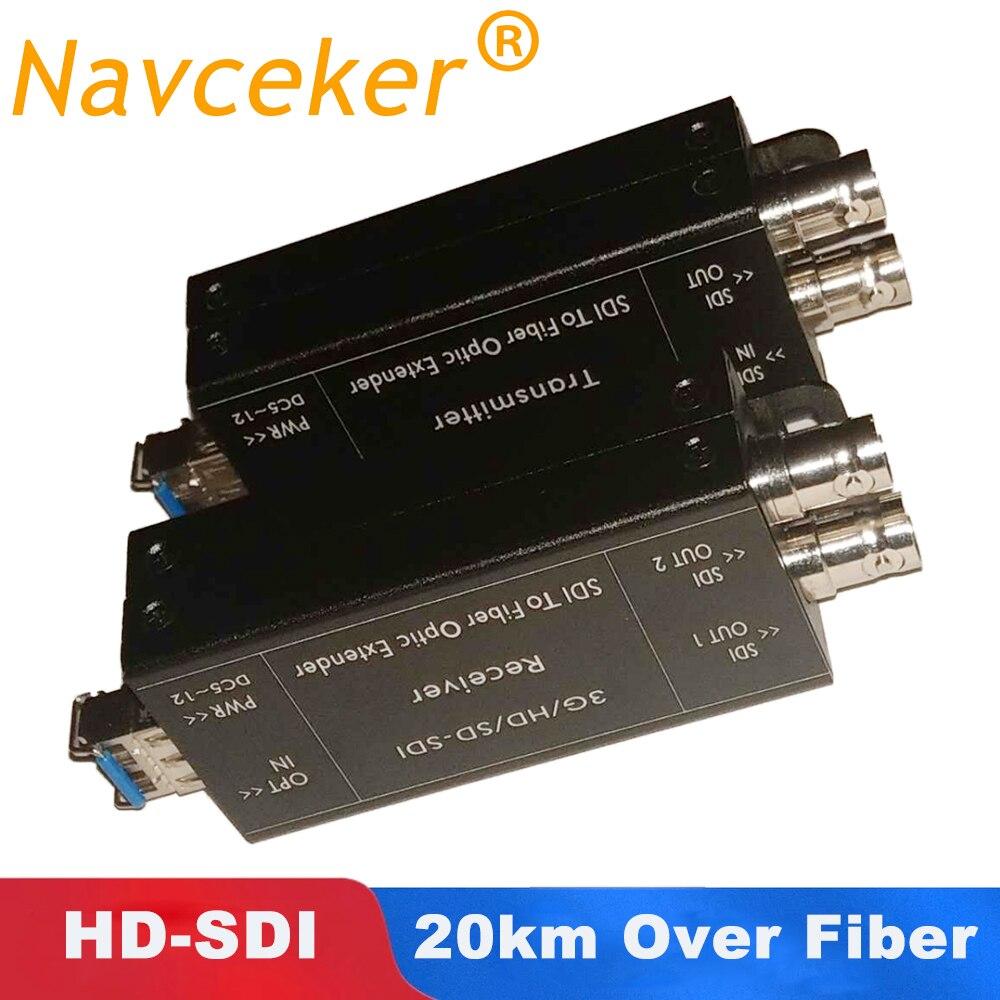 ProAV 1080i HD SDI Fiber Optical Converters With Dual SDI Output  1080@30Hz HD-SDI Fibra Optic To BNC Coaxial Converter 20km