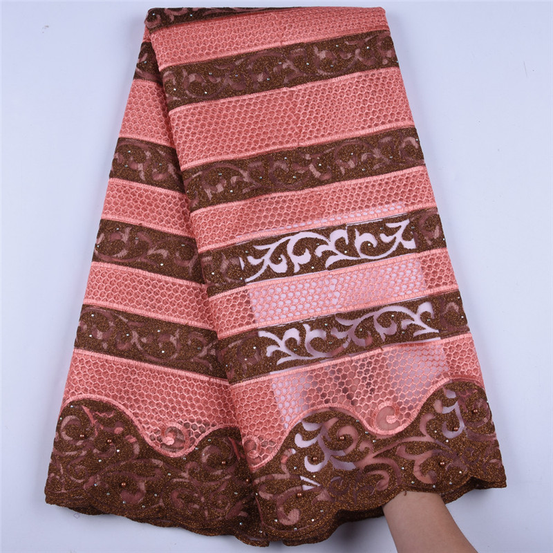 Newest High Quality African Net Lace Fabric Embroidered Nigerian Lace Fabric French Tulle Lace Fabric For