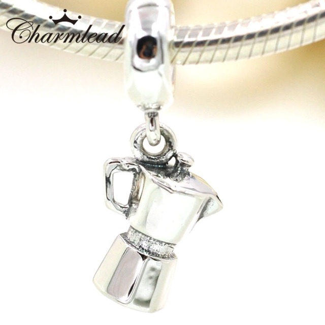 Authentic 925 sterling silver charms coffee lovers dangle charm authentic 925 sterling silver charms coffee lovers dangle charm pendant fits pandora charms bracelet diy jewelry aloadofball Image collections
