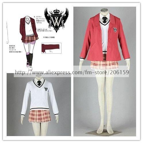 Axis Powers Hetalia Girls' School Uniform Dress Cosplay Costume for Halloween Party Costumes