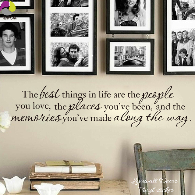 The Best Things In Life Love Memories Quote Wall Sticker Photo Frame ...