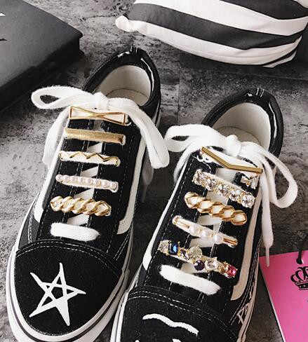 Fashion Multiple Styles Metal Crystal Shoes Decoration Sneakers Best Accessories One Piece Free Shipping