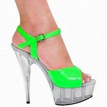 Sexy 15 CM High-Heeled Sandals Nightclub Dance Shoes Pole Dancing Shoes Model High Heels Women's Shoes