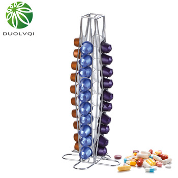 Duolvqi Coffee Pod Capsules Holder Tower Stand