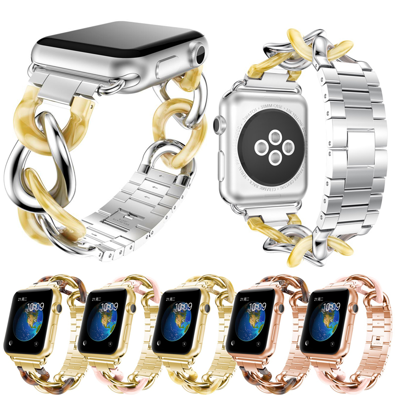 Stainless Steel Strap For Apple Watch Band with 38mm 42mm Smart Watch Watchbands Popular Bracelet for Apple Watch Series 3 2 1 watchbands for garmin fenix3 smart watch black silver gold bracelet stainless steel metal watch band strap 26mm