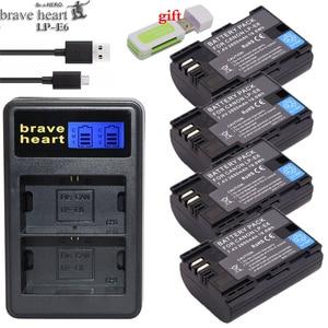 Hot selling 2x 2650mAh LP-E6 LP E6 LPE6 Camera Battery pack For Canon 5D Mark II III 7D 60D EOS 6D 70D 80D for canon accessories
