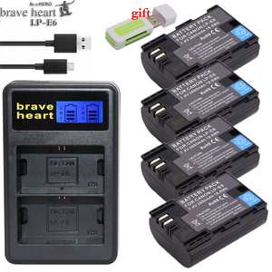 Image 1 - Hot selling 2x 2650mAh LP E6 LP E6 LPE6 Camera Battery pack For Canon 5D Mark II III 7D 60D EOS 6D 70D 80D for canon accessories
