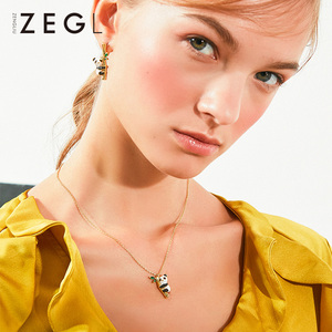 Image 4 - ZEGL בעלי החיים שרשרת פנדה שרשרת אישה תליון עצם הבריח שרשרת בסגנון סיני שרשרת צוואר שרשרת