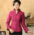 Ярко розовый традиционный китаянки тан лучших женщин осень зима куртки chaquetas mujer sml XL XXL XXXL M-05
