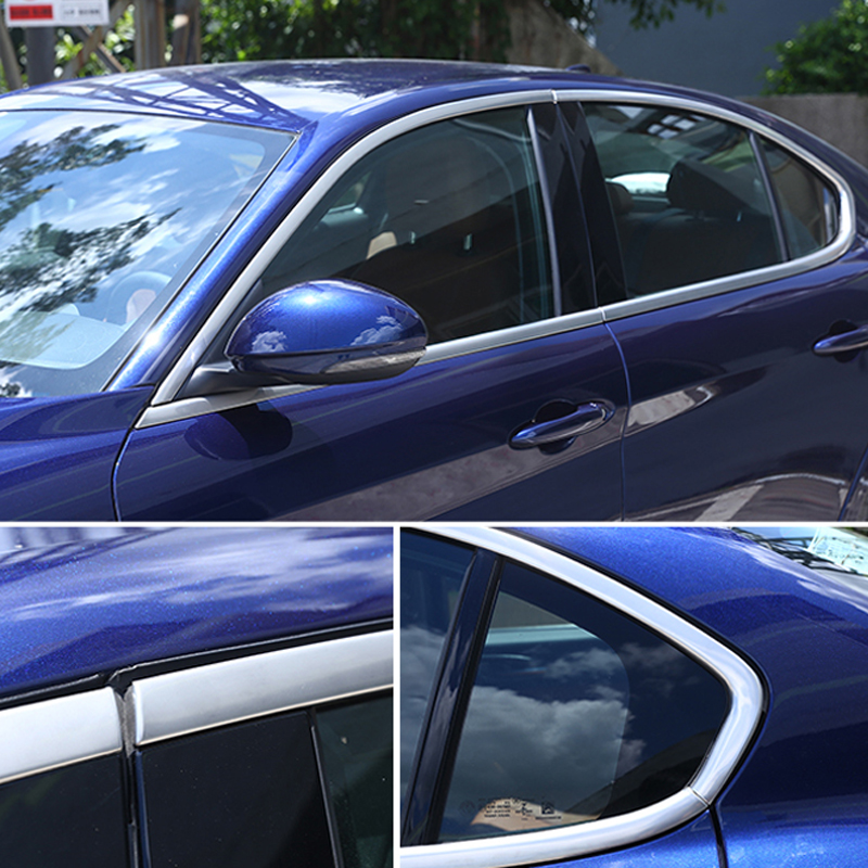 Steel Door Window Pillar Sill Trim  Bezel Molding 8pcs Fit For Honda Civic 2016