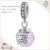 Encantos pulseira 925 jóias de prata esterlina corações de cristal turquesa bead diy pulseira manguito pulseira feminina