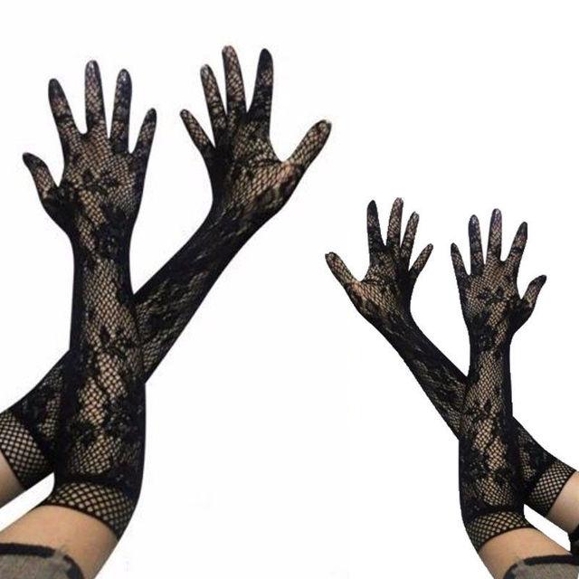 Women's Transparent Elbow Long Gloves