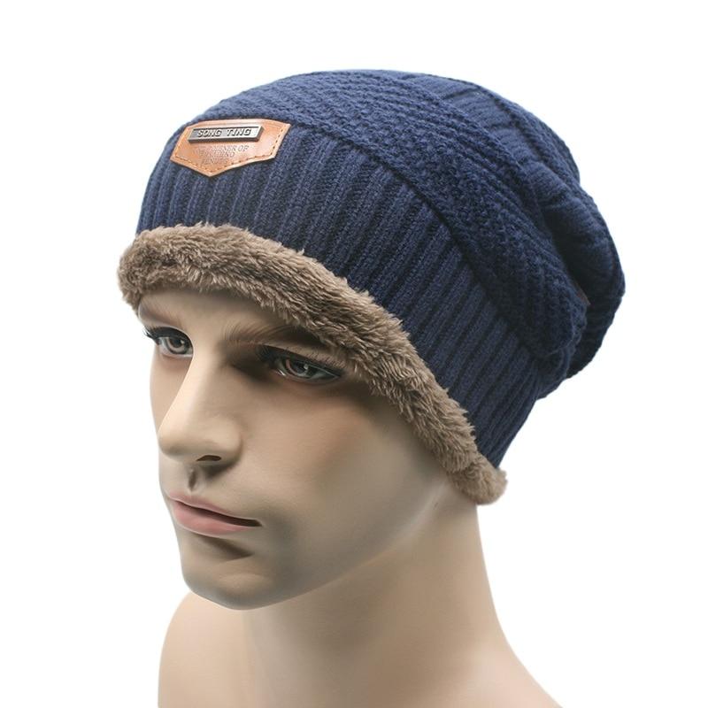 759a4b48d0359 Men s Winter Beanie Knit Wool Cap Hat Baggy Warm Skull Wool Women Hats  Unisex-in Skullies   Beanies from Apparel Accessories on Aliexpress.com