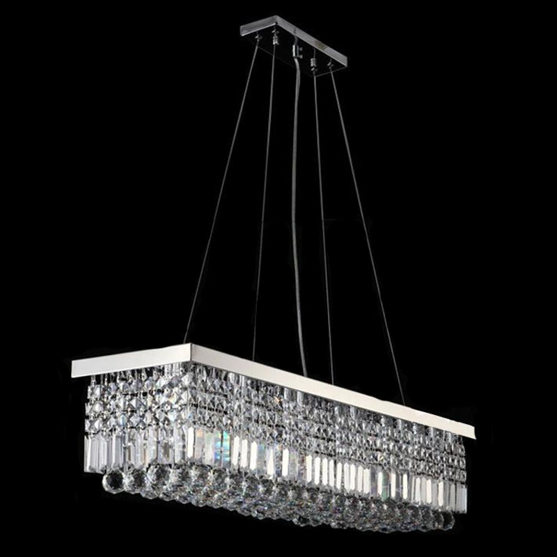 Long size rectangle crystal pendant light fitting crystal chandelier long size rectangle crystal pendant light fitting crystal chandelier ceiling suspension lamp for dining room bedroom meetin in ceiling lights from lights aloadofball Images