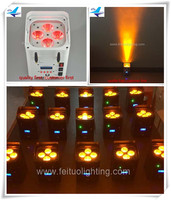 36lot Dmx up light indoor uplighters 4x12w rgbwa uv 6in1 wifi led battery uplights
