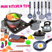 Plastic Kids House Kitchen Toy Cooking Cookware Children Play Kitchen Playset for Children цена
