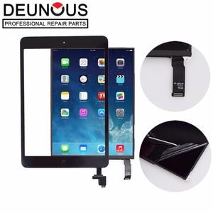 LCD Touch screen Para iPad Mini 2 Display + painel de toque Digitador de Vidro Frontal com Botão Home IC Câmera Adesivo titular