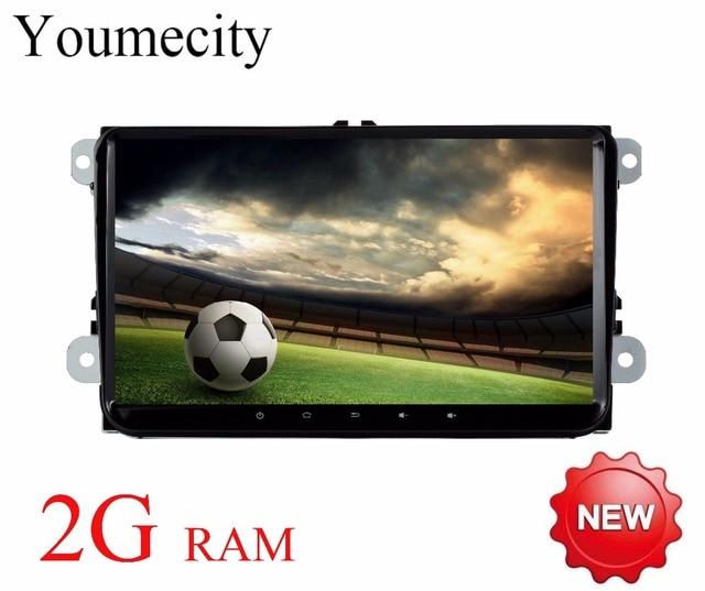 Youmecity Android 7.1 Car DVD Player Radio Gps Stereo for VW Volkswagen SKODA GOLF 5 Golf 6 POLO PASSAT B5 B6 JETTA TIGUAN 2 din