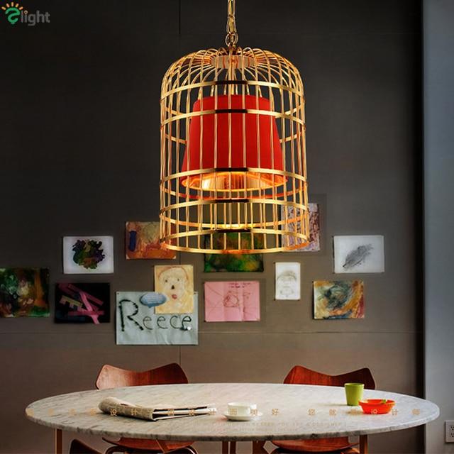 Modern Led Plate Gold Chrome Birdcage Led Pendant Light Bar ...