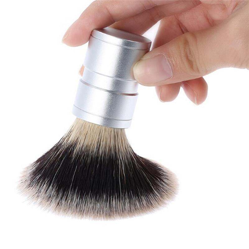 New Fashion Men's Gift Silvertip Badger Hair Shaving Brush Stainless Metal Handle Barber Tool Comfortable Shave
