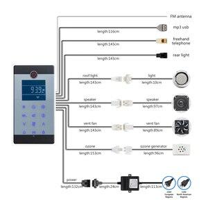 Image 3 - 1 takım (denetleyici + trafo + havalandırma fanı + hoparlör + ışık + ozon) dokunmatik ekran büyük LCD ekran serbest telefon duş kabini
