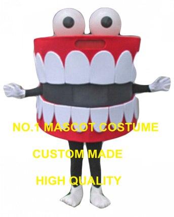 Dents mascotte costume offre spéciale dessin animé bouche dent santé dentaire thème anime cosplay costume carnaval déguisements kits 2834