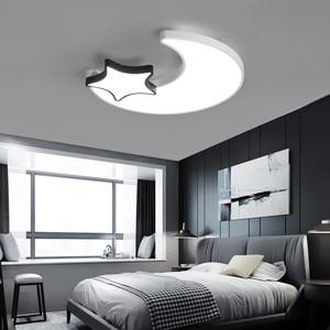 Image 3 - Lámpara de techo de Luna y estrella blanca para dormitorio, accesorio de iluminación moderno para habitación de niños y bebés, luces Led para el techo del hogar