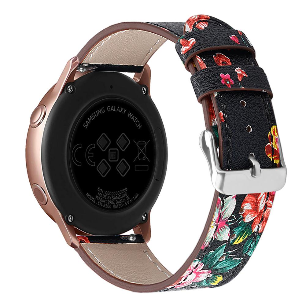 Image 3 - High Quality Replacement Classic Leather Watch Band Wrist Strap Comfortable For Samsung Galaxy Watch Active-in Smart Accessories from Consumer Electronics