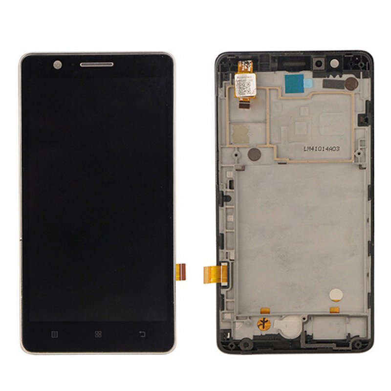 100% Test Original For Lenovo A536 LCD Display With Touch Screen Digitizer Assembly With frame Black White Color Free Shipping vibe x2 lcd display touch screen panel with frame digitizer accessories for lenovo vibe x2 smartphone white free shipping track