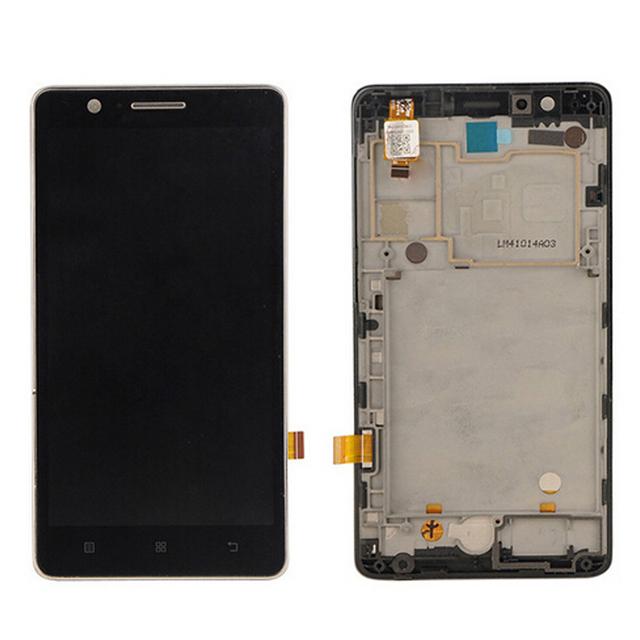 Prueba del 100% original para lenovo a536 pantalla lcd con pantalla táctil digitalizador asamblea con marco de color blanco negro envío gratis