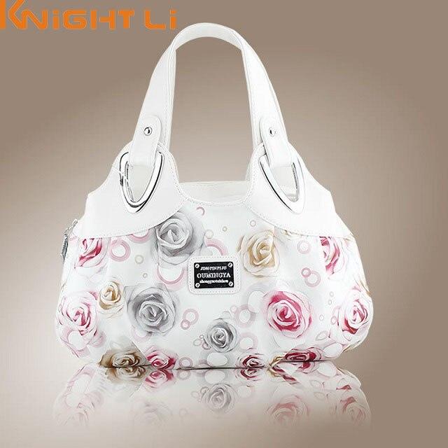 2018 Hot Fashion Korean Handbag Beautiful Women Pu Leather Bag Tote Printing Handbags Many Style Satchel Drop Wholes Mm5 In Shoulder Bags From