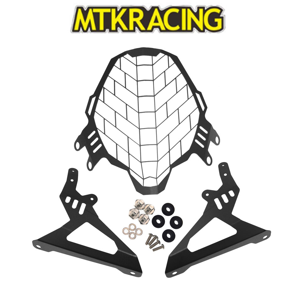 MTKRACING Motorcycle Accessories Modified Headlight Net Cover Shield For BMW V-strom 1000 2017-2019+