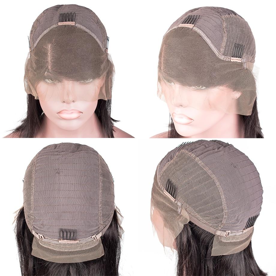 Afro Crespo parrucche dei capelli umani Brasiliani anteriori del merletto Ricci Corti Bob Parrucca Ondulata Per Le Donne Nere Lungo Parrucca Pre Colto 13x4 Remy Firstwig - 3