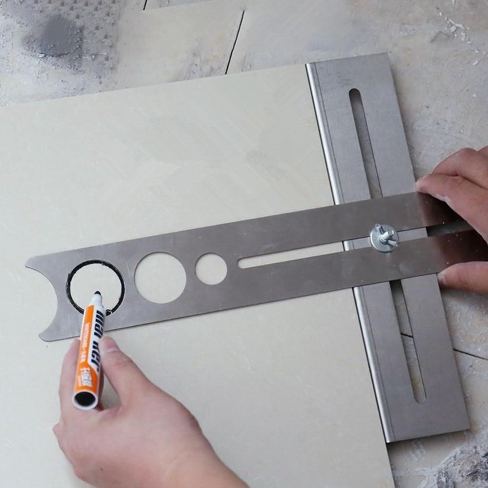 1PC Multi-Functional Tile Locator Puncher Tapper Adjustable Tile Fixing Decoration Accessory For Building Construction J3 spta 14pcs tile carbide