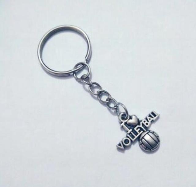 ¡Envío Gratis! I love voleibol llavero para llaves coche bolsa llavero regalos joyería