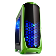 Gaming Computer case 120mm fan *5,7 PCI slots USB3.0 gamer computer for game GoldenField chaoyue Apple green(China (Mainland))