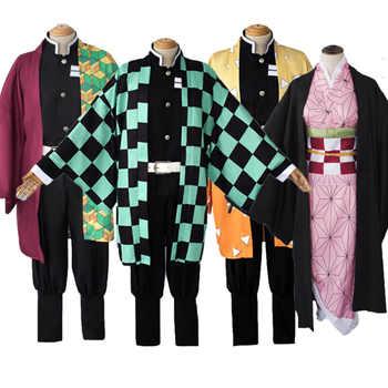 Anime Demon Slayer Tanjirou Kamado Kamado Nezuko Cosplay Costume Kimetsu no Yaiba Kimono Adult Halloween Carnival Uniforms - Category 🛒 Novelty & Special Use