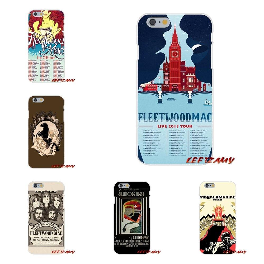 Fleetwood Mac плакат Книги по искусству Тонкий силиконовый чехол для телефона IPhone X 4 4S 5 5S 5C SE 6 6 S 7 8 плюс