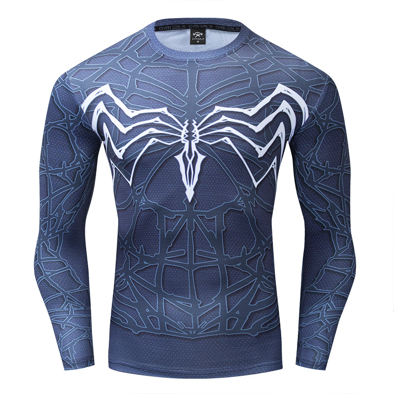 Avengers 4 Spiderman 3d Printed Venom Tshirt Men Compression Shirt Long Sleeve Cosplay Costume For Male Tshirts Polyester S-4XL