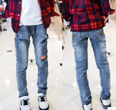 Новый Год, весна осень брюки дети детские брюки Тонкий Личности Мальчиков джинсы дети мода джинсы Бесплатная доставка