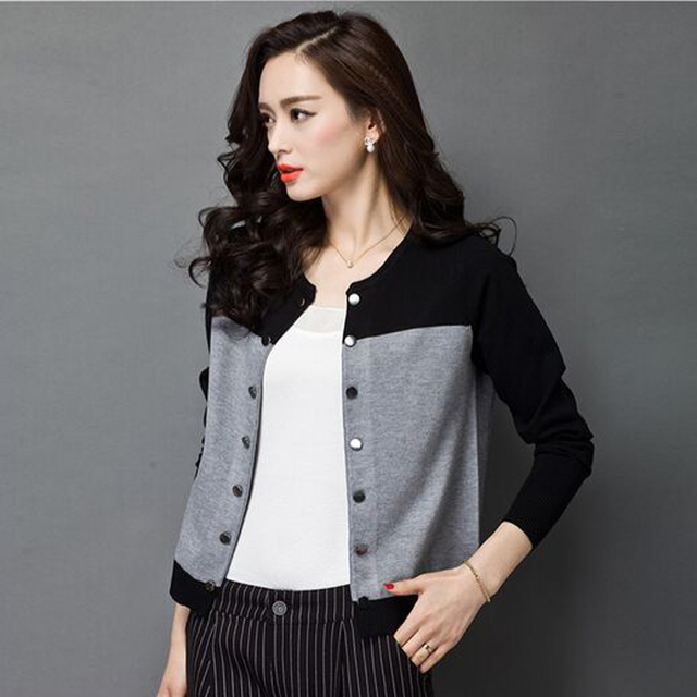 2017 High Quality Two Tone Women Cardigan