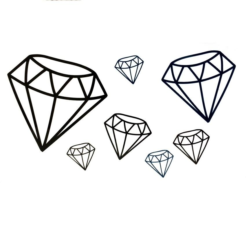 30 Unids Caliente Diamante Negro Hombres Harajuku Tatuaje Arte