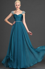 Marias Bridal Free Shipping Elegant Floor-length Sleeveless Double Straps Beaded Crystal Prom Party Gown Evening Dress 2015