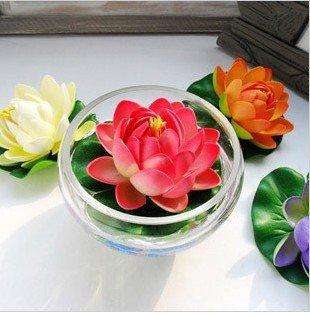 20pcslot Free Shipping 10cm Artificial Lotus Flowerhouse
