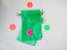 200 unids Hierba verde del regalo del organza bolsas 17×23 cm bolsos de fiesta para las mujeres evento casarse Con Cordón bolsa de La Joyería pantalla Bolsa de accesorios de bricolaje