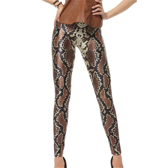 3D Snake Skin Print Legging Punk Rock Sexy Women Leggings Hot Sale Novelty Funny Ankle Length Pants Femme Hot Sale Sportswear