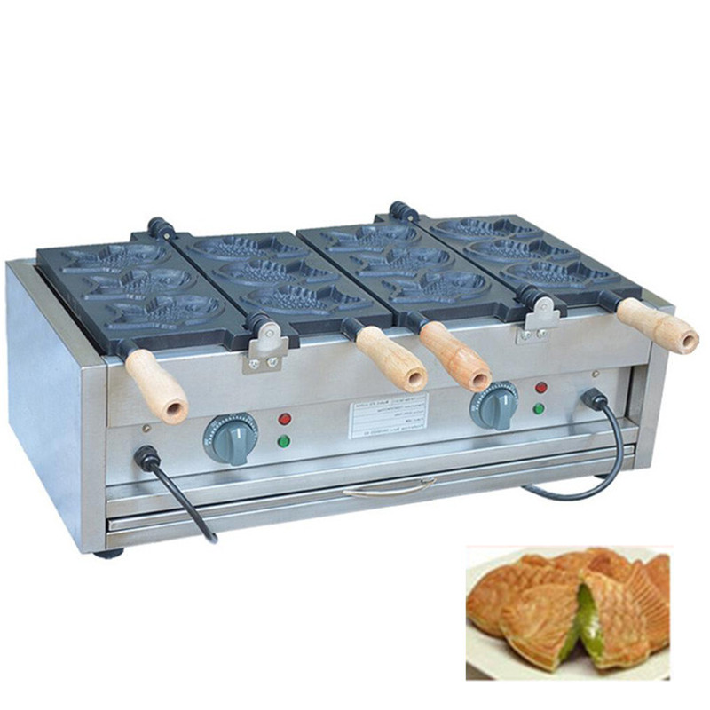 Home Appliances Jamielin Electric Fish Waffle Maker Taiyaki Waffle Machine Commercial Grain Fish Snapper Burn Grilled Fish Scone