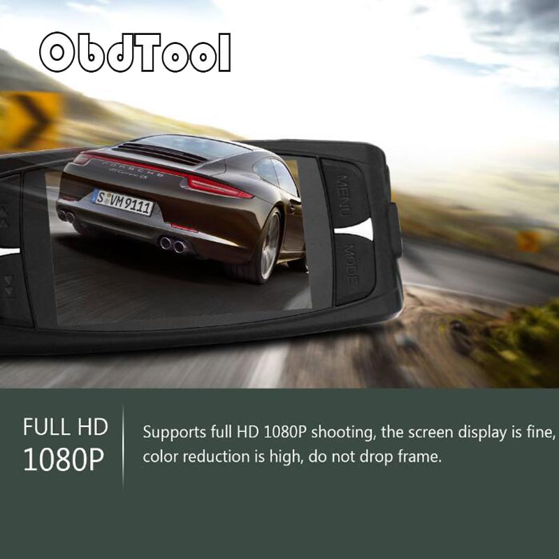 OBDTOOL Car DVR G1WH 2.7 Inch LCD 1080P Full HD Video Camera 140 Degree Wide Angle hight quality gt850w shadow1 band car dvr camera 2 7 lcd 140 degrees wide angle full hd 1280x1080p gps logger opetional