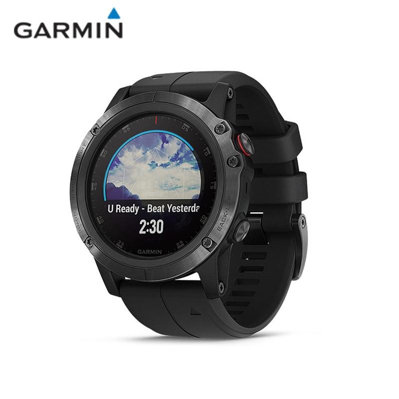 GARMIN Fenix 5X Plus Smart Watches Sapphire Mirror GPS Waterproof Ultimate Multisport GPS Smartwatch Heart Rate Monitoring